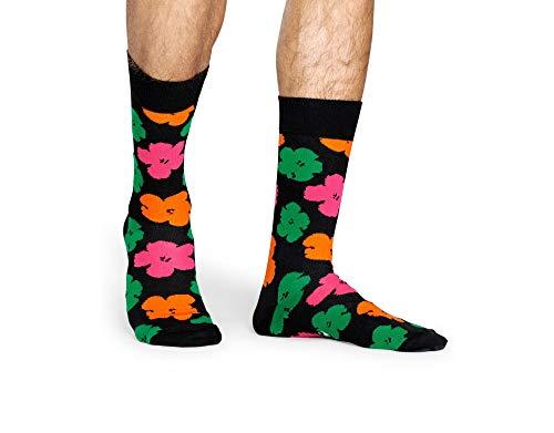 Happy Socks – Calcetines de algodón coloridos con diferentes patrones de colores para hombre y mujer Multicolor 147 Andy Warhol Flowers 41/46 ES