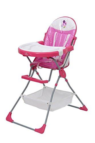 Polini Kids Hochstuhl Kinderhochstuhl rosa Tablett, Korb