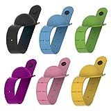 YunYoud 6PCS Armband Handspender, 10ML Tragbar Spender Klein Wieder auffüllbar Drücken Flasche Sanft Silikon Armband, Wristband Hand Dispenser Perfekt für Draussen