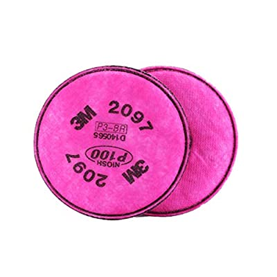 Particulate Filter with Organic Vapor Relief, 2097 P100, 1 Pair(2 Filter Cottons)