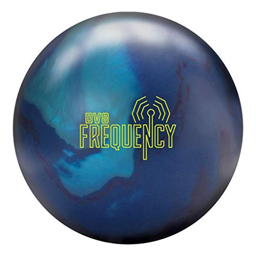 DV8 Bowling Products Frequency Bowling Ball Includes Free Lime Luster 15lbs, Indigo/Sky/Grape