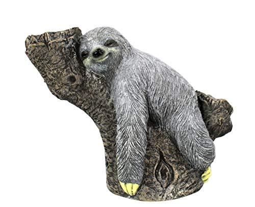 DARO DEKO Tier Figur in Stein-Optik Faultier auf Baumstamm bepflanzbar 50 x 38cm