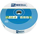 MyMedia CD-R 700 MB I 10er Pack Spindel I CD Rohlinge printable I 52-fache Brenngeschwindigkeit mit langer Lebensdauer I leere CDs beschreibbar I Audio CD Rohling I CD bedruckbar
