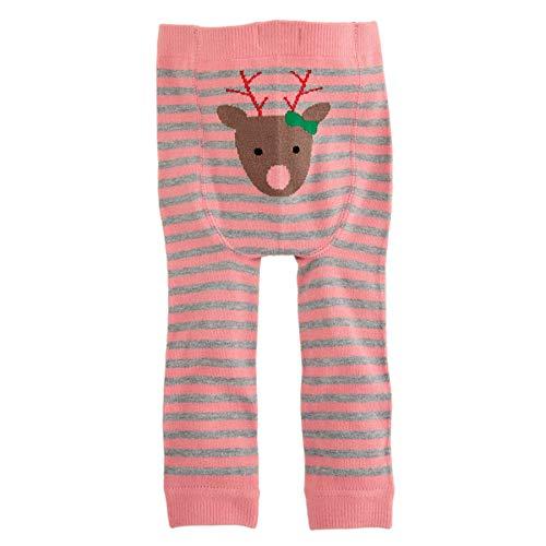 Mud Pie Baby Girls' Reindeer Knitted Pants, Grey, Pink, 6-12 Months