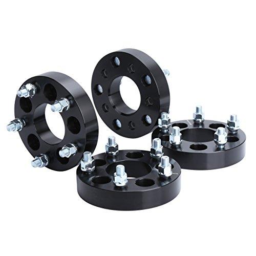 Wheel Adapters for Jeep JK Wheels on TJ YJ KK SJ XJ MJ, KSP 5X4.5 to 5x5 Wheel Spacers 1/2 Thread Pitch Change Bolt Pattern 71.5mm Hub Bore Thickness 1.25'