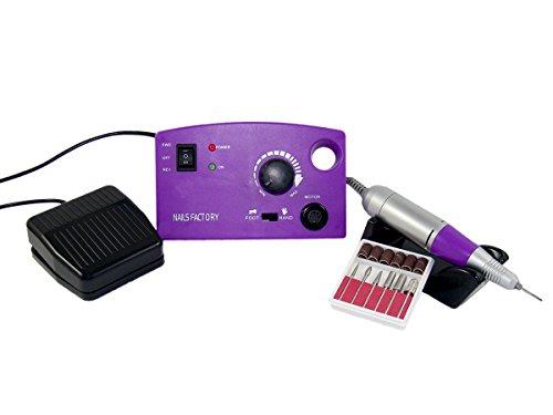 Kit de Ponceuse Électrique Professionnelle, Violet, 35 000 tr/min-avec des têtes de coupe interchangeables pour manucure et pédicure
