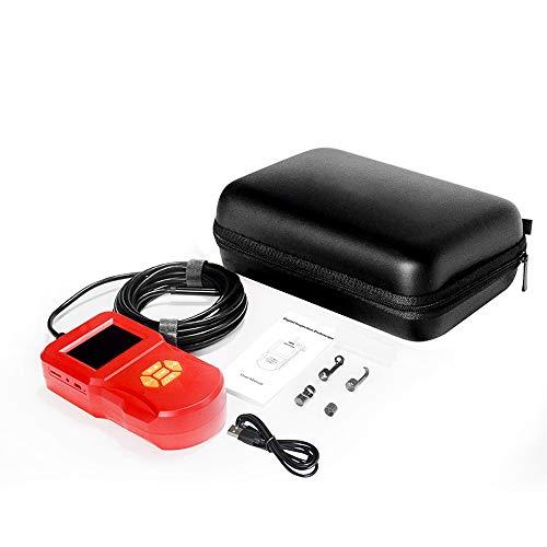 Borescope 2,4 inch IPS high-definition beeldscherm groot scherm endoscoop Digitale Opsporing Handheld Met LED Maintenance Waterdicht endoscoop QPLNTCQ (Color : Red, Size : 5m)