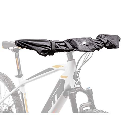 FISCHER Schutzhülle für E-Bike Display und Lenker-Schutz, Polyester, schwarz, Schutz vor Nässe, Staub und Schmutz, für Lenker bis 80 cm Länge