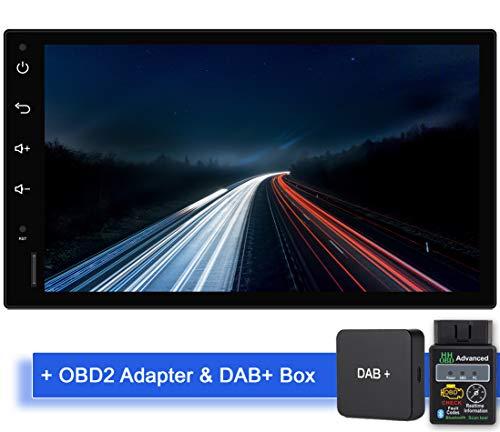 Tristan Auron BT2D7018A Android 10 Autoradio mit Navi + OBD 2 und DAB+ Box I 7