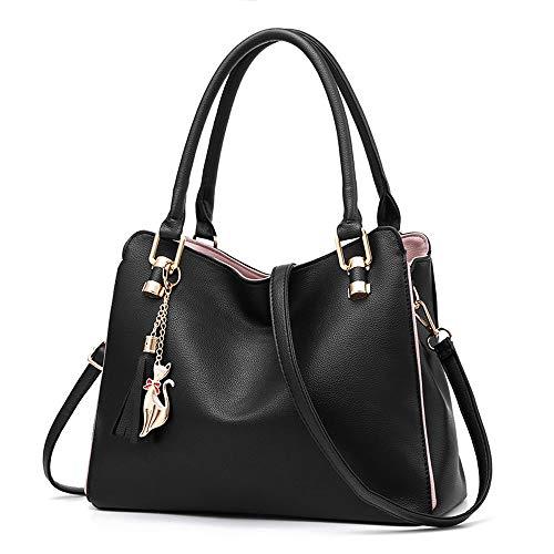 Bolsas e bolsas de mão para mulheres, mini bolsa de ombro com alça superior, 2 - preto, Medium