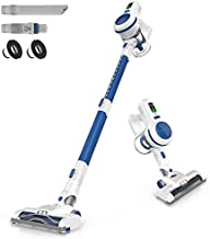 ORFELD Cordless Vacuum Cleaner, 20000Pa Stick Vacuum 6 in 1, Long Runtime, Lightweight & Ultra-Quiet for Hard Floor Carpet Pet Car Cleaning Blue & White, V20