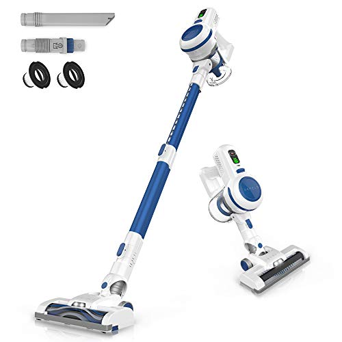 ORFELD Cordless Vacuum, Stick Vacuum Cleaner 4 in 1 with 17000pa Super Suction, Ultra-Lightweight & Quiet Handheld Vacuum for Home Hard Floor Carpet Car Pet(2020 Upgrade)
