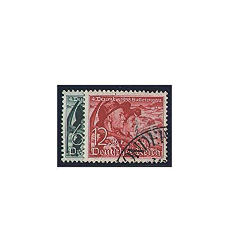 Goldhahn Deutsches Reich Nr. 684-685 gestempelt Sudetenlandabstimmung 1938 Briefmarken für Sammler