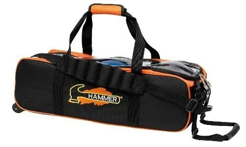 Hammer Triple Tote Bowling Bag- Black/Orange by Hammer Bowling Products
