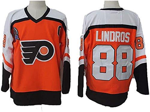 Eric Lindros#88 Philadelphia Flyers Eishockey Trikots Jersey NHL Herren Sweatshirts Atmungsaktiv T-Shirt Bekleidung (Color : 2, Size : XL)