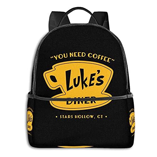 Luke's Diner School Mochila unisex clásica mochila casual