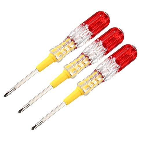 Bolígrafo de comprobador eléctrico, destornillador de comprobador eléctrico, comprobador de circuito de detector de luz de neón AC 100-500V, cabeza extraíble ranura de 3,5 mm