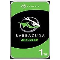 """Seagate BarraCuda, 1 TB, Unidad de disco duro interna, HDD, 3.5"""", SATA 6 Gb/s, 7200 r.p.m., 64 MB, caché para ordenador de sobremesa y PC (ST1000DM010)"""