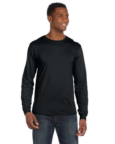 Anvil Lightweight Long-Sleeve T-Shirt, Medium, BLACK