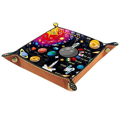 Space Galaxy Universe - Organizador de cuero para hombre