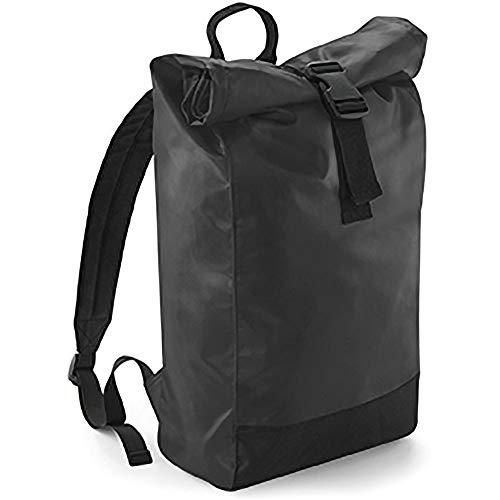 Bagbase Tarp Wasserabstoßender Rucksack mit Rollverschluss (Einheitsgröße) (Schwarz)