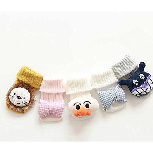 HLONGG Cartoon Doll Socks Non-Slip Floor Hose Darling Anklets Boys and Girls Newborn Children's Cotton Sox,S (6and12Bulan)