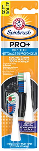 ARM & HAMMER Spinbrush Truly Radiant Deep Clean Replacement Brush Heads Soft