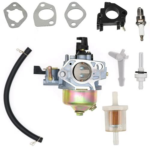 SAKITAM Carburetor carb for CH1 CH4 Brush Master DEK 420CC 15HP Chipper Shredder Gas Engine with Gaskets Fuel Filter Spark Plug Kit