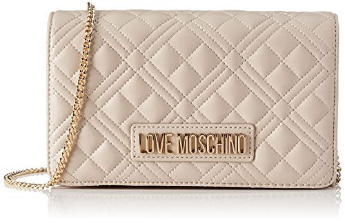 Love Moschino Pre Collezione Autunno Inverno Bolso de Hombro para Mujer, colección otoño-Invierno 2021, Gris, Talla única