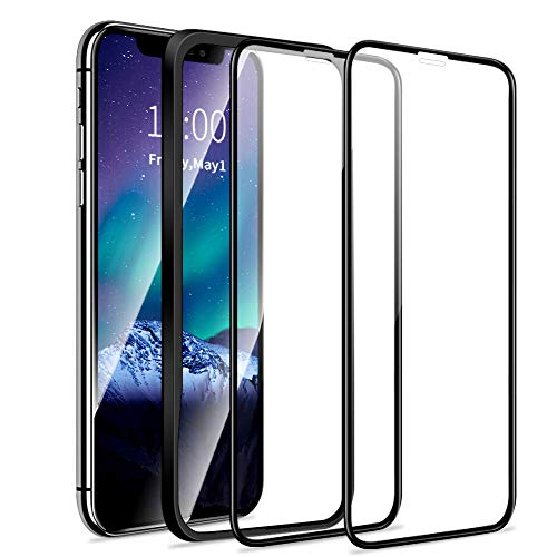Meidom Schutzfolie Kompatibel mit iPhone XR/iPhone 11 [2 Stück] Anti-Kratzen Full Screen Displayschutzfolie für iPhone XR/ 11 (6,1 Zoll) - Mit den Positionierhilfen