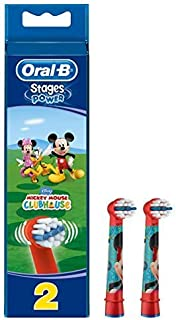 Oral B Braun EB10-2 K - Kids Power Replacement Brush Heads, Assorted, 2 Pieces