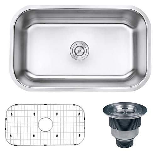 Ruvati 30-inch Undermount 16 Gauge Stainless Steel Kitchen Sink Single Bowl - RVM4250