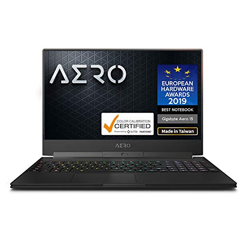 "GIGABYTE AERO 15 Classic-SA-F74ADW 15"" Thin Bezel LG 144Hz FHD IPS LCD, i7-9750H, NVIDIA GeForce GTX 1660 Ti, Samsung 16GB RAM, M.2 PCIe 512GB Intel 760P SSD, Win10 Home, 94Wh Ultra Slim Gaming Laptop"
