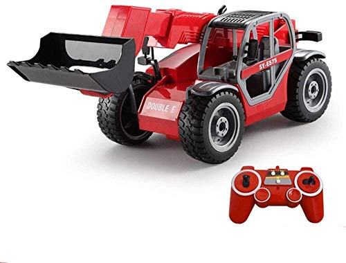 VanFty RC Trucks Toy Car Model Remote Telescopic Loader Forklift Large Truck Transportation Electric Simulation Engineering Remote Control Cars Model 2.4G for Boys & Girls Gifts