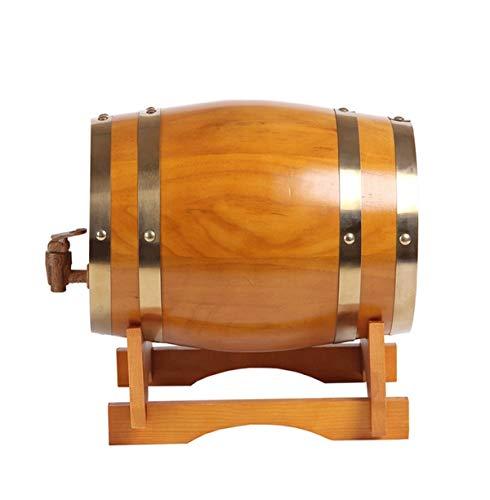 Barril de Vino de roble Hogar Barril de Vintage Vintage Wood Oak Timber Wine Barrel Dispensador con soporte de madera, for almacenamiento de vino y licores barriles de cerveza