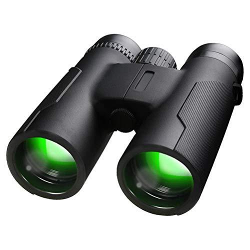 Telescopio binocular 12X42, telescopio binocular de visión nocturna impermeable de alta definición para acampar, caza, observación de aves, compatible con la mayoría de los teléfonos inteligentes