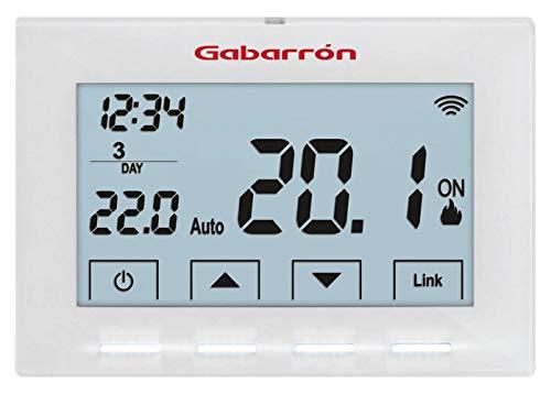 ELNUR GABARRON | Cronotermostato De Ambiente CTM20 | WiFi Compatible con Alexa para Control y Gestión De Calderas | LCD Retroiluminado con Tecnología LED
