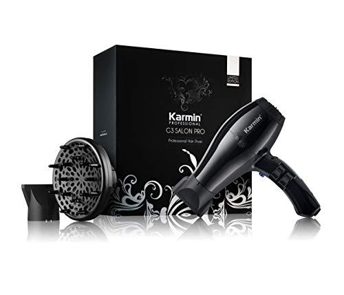 Karmin G3 Salon Pro- Secador de pelo/cabello profesional iónico 2000w, modelador potente con difusor para peluqueria con iones negativos