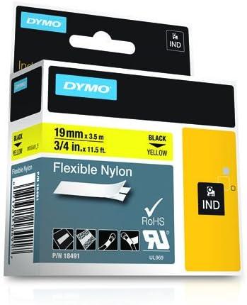 Dymo Rhino Tape Industrial Nylon Labels 24mm X 3 5m Black White Black On Yellow 12 Mm X 3 5 M Bürobedarf Schreibwaren