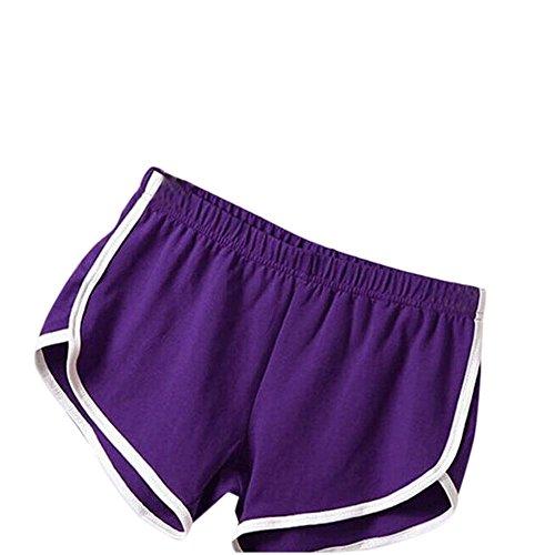 VEZAD New Summer Pants Women Sports Shorts Gym Workout Waistband Skinny Yoga Short