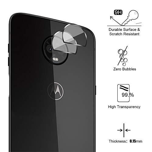 Siumir 2 PCS Lente della Fotocamera Posteriore Pellicola Protettiva per Motorola Moto Z3 Play 6.0 Pollice, Morbido Vetro Temperato Pellicola 2.5D Anti-graffio