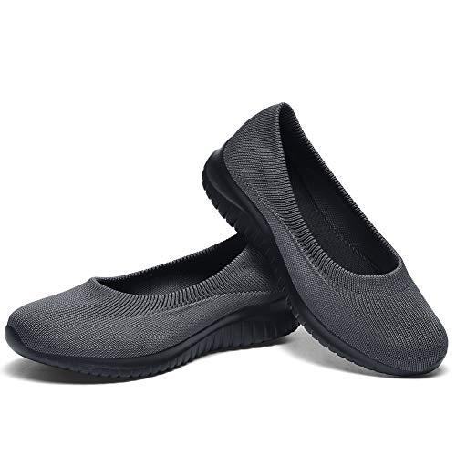 [TIOSEBON] スニーカー レディース スリッポン ナースシューズ ランニングシューズ ウォーキングシューズ スポーツシューズ 婦人靴 超軽量 通気 高齢者 幅広 23.0cm-25.0cm