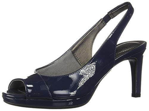 LifeStride Women's Invest Dress Sandal, Lux Navy, 9.5 M US