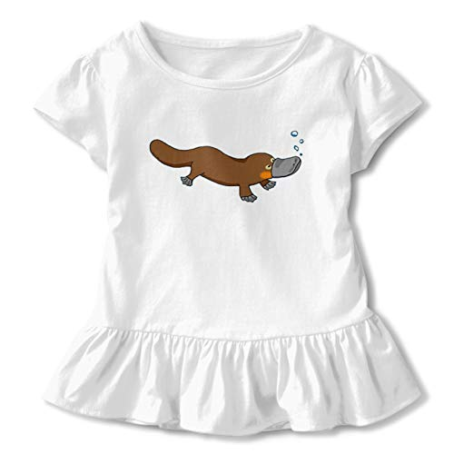 Babe Girl's Short Skirt Ruffled 3D Printed T-Shirt Ferb Platypus Graphic Short Sleeve Teechildren'S Short Sleeve T 4t