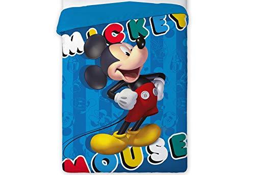 T&R Disney 454 Mickey Mouse Bettdecke für Bett 90/105
