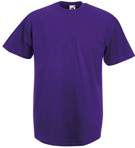 Fruit of the Loom Valueweight T-Shirt Violett XXL