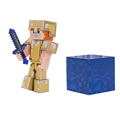 Minecraft Alex in Gold Armor Figure Pack