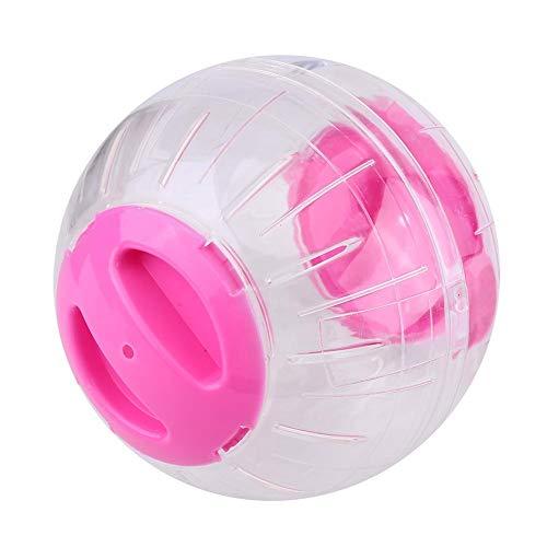 GLOGLOW Hamster-Übungs-Ball, 4,7 Zoll Plastiknetter Haustier-Ratten-Mäuse-Rennmaus-laufendes Jogging, Das lustige Spielwaren Spielt Zwerg-Hamster-Minilauf-Überübungs-Rolle-Ball(Rosa)
