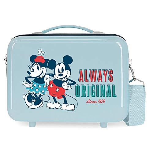 Disney Always Original Neceser Adaptable Azul 29x21x15 cms Rígida ABS 9,14L