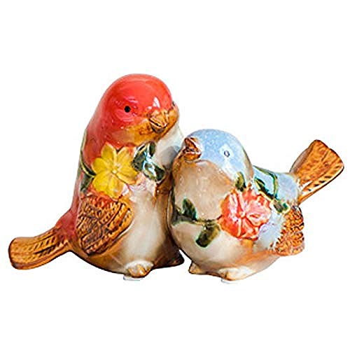 Escultura Decorativa Salon,Decoración Escultura Estatuilla Arte De Interior Al Aire Libre Artesanía De Cerámica Alas De Porcelana Fina Volando Dos Parejas Decoración De Aves Pájaro Pastoral Euro